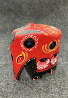 """ELEPHANT Hand Carved And Painted Folk Art 3"""" Tall"""