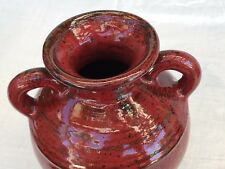 Southern Living At Home Pottery Tuscani Vase Rustic Red Browm Black Stoneware