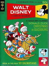 Walt Disney Comics Digest #18 DONALD DUCK CHRISTMAS IN DUCKBURG 1969 GK BARKS