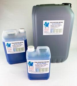 Fibreglass Resin - GRP - Polyester VALUE RANGE -  2.5kg, 5kg ,7.5kg,10kg + 25Kg