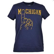 NCAA Michigan Wolverines Navy Blue Mens Tshirt Tee Short Sleeve Crew Neck Sports