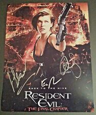 """RESIDENT EVIL ~ FINAL CHAPTER x3 Authentic Hand-Signed """"Ali Larter"""" 11x14 photo"""