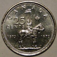 BU UNC Canada 1873-1973 RCMP centennial quarter 25 cent 25c from roll