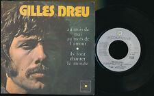 """GILLES DREU 45 TOURS 7"""" FRANCE AU MOIS DE MAI AU MOIS DE L'AMOUR (DE ELTON JOHN)"""