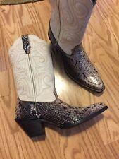 Durango Crush Music Inspired Cowgirl Western Cream Brown Boots RD018 Women's 7M