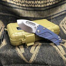 "Medford Hund S35VN 2.25"" Tumbled Anodized Blue Finish Folding Knife MK203ST-37A1"