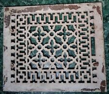 "Antique Metal FURNACE HEATING GRATE VENT 14"" x 12"""