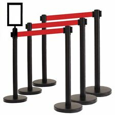 social distancing crowd control barrier black or silver