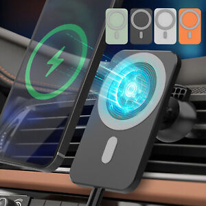 15W Car Mount Wireless Charger Magnetic Mag Safe For iPhone 12 Pro Max 12 Mini