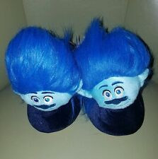 TROLLS SLIPPERS TODDLER BOYS BRANCH CHARACTER W/TROLL HAIR SIZE 9/10