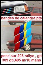 stickers pts calandre Peugeot Talbot Sport 205 GTI,rallye 104 ZS 405 mi16 STI