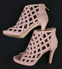 Ladies Womens TAMARIS Pink Glitter Lattice High Heel Sandals 3 UK 36 EU VGC