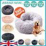 UK Large Pet Bed Luxury Shag Warm Fluffy Dog Bed Nest Cat Mattress Fur Donut Pad
