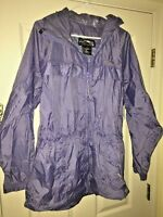 RED LEDGE hiking football game WOMENS WATERPROOF HOODED RAIN COAT JACKET SIZE L