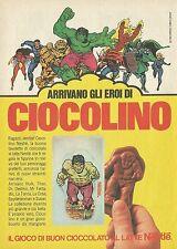 X2347 Ciocolino Nestlè - L'incredibile HULK - Pubblicità 1980 - Advertising