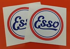 2 x classic esso Stickers 100mm round decals 1960s style f1