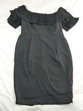 CITY CHIC M 18 NWT RRP $129.95 DRESS RUFFLED UP BLACK