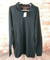 NWT Born Quarter Zip Pull Over Sweater Black Size L