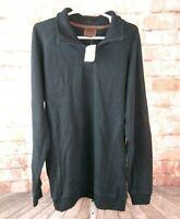 NWT Born Quarter Zip Pull Over Sweater Black Size L