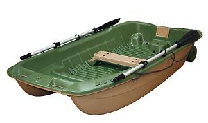 BIC TAHE Sportyak 245 Ruderboot Angelboot Dinghy Boot Grün/Beige / Ruder / 2021