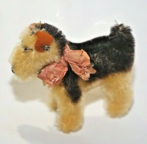 Steiff Mini Airedale Terrier Toy Dog Mohair Terry Germany 1967 - 1977 Miniature