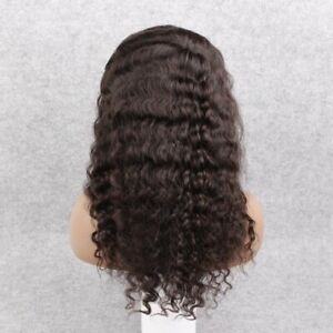 """50% Off! Lace Cut 18"""" #1B Water Wave 100% Remy Indian Hair Lace Front Wig"""