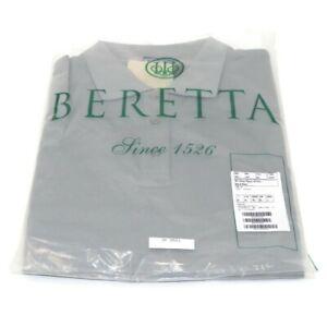 Beretta Women's Silver Pigeon PP Polo Shirt Ash & Silver L Gray Short Sleeve