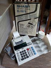 Sharp El-1197S Printing Calculator