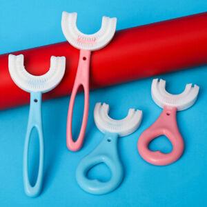 2-12 Jahre Kinder Zahnbürste U-förmige Silikonzahnbürste für eine 360° Reinigung