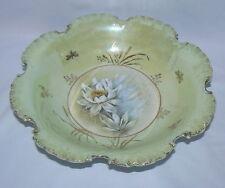 """Rare c1900 Rosenthal China RC Monbijou Bavaria Lotus Pattern 10"""" Porcelain Bowl"""