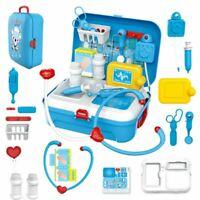 Gift Kids Children Doctor Nurse Toys Medical Set Role Play Kit Hard Carry Bag 3+