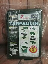 9 ft. x 9 ft. Green Polyethylene Tarpau