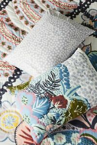 NWT 2 Anthropologie Nieves Standard Shams Pillowcases Floral Kantha Stitch Quilt