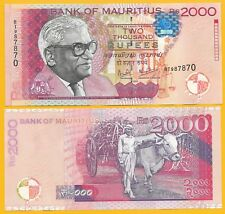 Mauritius2000 Rupees p-55 1999 UNC Banknote