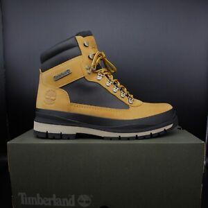 TIMBERLAND A1Z7X231 Wheat Nub Black Field Trekker Mens Hiking Boots Size 9