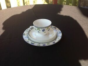 Coalport - Country Garden Collection - Blue Belle - cup, Saucer and plate