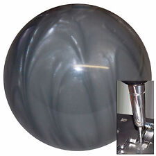 Pearl Gray shift knob for Dodge Chrys Jeep auto stick w/ adapter