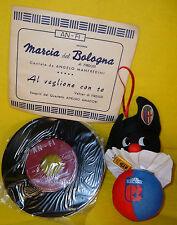 BALLY MASCOTTE '80 & MARCIA BOLOGNA FC '50 INNO 45giri STADIO CALCIO ROSSO BLU