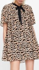 e62121a47bb NWT NEW! Sz SMALL! ZARA Pleated Leopard Jumpsuit Dress. Mini Midi Maxi Shirt