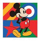 """SIR PETER BLAKE """"MICKEY MOUSE"""" 60CM X 62CM + Banksy,Obey,Hush sticker"""