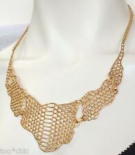 NWT $850 ELIZABETH &JAMES 23k YELLOW GOLD SNAKE SERPENTINE BIB NECKLACE!and saks