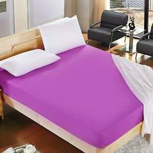Bed Fitted Sheet Sheets Single Double King Luxury Polycotton Extra Deep Fitted 2