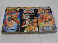X2138 Nintendo Super Famicom Street Fighter II Turbo Super set SFC SNES w/box
