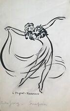 "Lucienne Pageot-Rousseaux - Dessin original - Fusain - Rita Georg  ""Empire"""