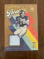 2020 Eite Throwback Threads Fran Tarkenton Patch Gold /15 NFL Panini Card