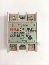 New One piece Solid State Relay SSR-60 DA - H 60A 3~32V DC 90~480V AC
