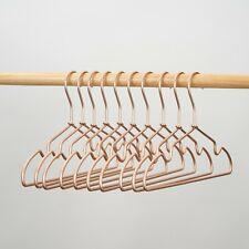 Rose Gold Children 32cm Matt Metal Wire Coat Suits Clothes Hangers Display 30pcs