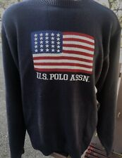 New listing Men's U.S. Polo Association American Flag Sweater Sz Med Red White Blue Acrylic