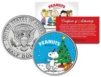 Peanuts SNOOPY CHRISTMAS TREE JFK Half Dollar U.S. Coin - OFFICIALLY LICENSED