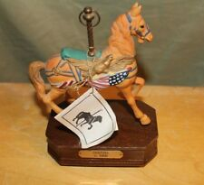 Horse Carousel Patriotic 1988 Igi Music Box Knotts Berry Farm Dentzel